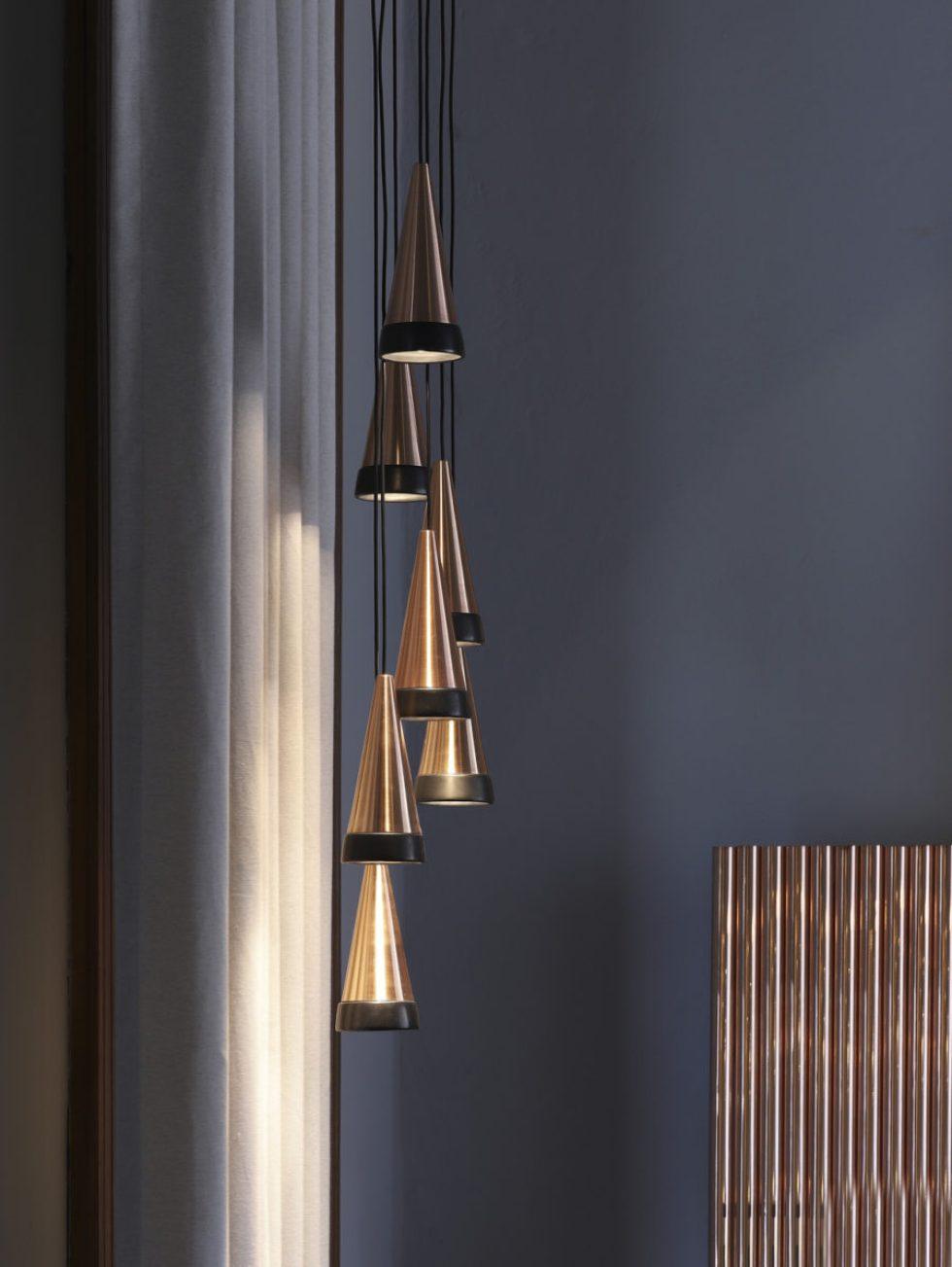 Chandelier Vitrif lamp in Showroom David Pompa