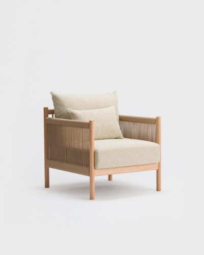 braid sofa 1 seat oak