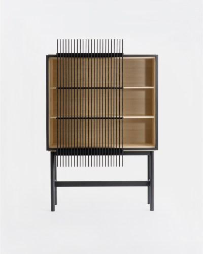 kumiko cabinet tall