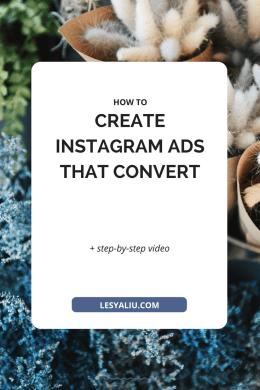 Create Instagram Ads that Convert