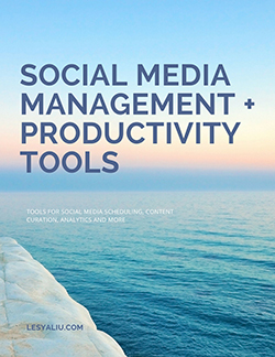 social media management tools checklist