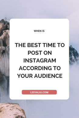 WHEN IS THE BEST TIME TO POST ON INSTAGRAM ACCORDING TO YOUR AUDIENCE