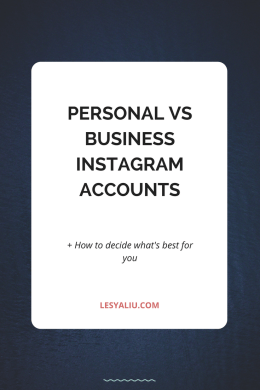 Personal vs Business Instagram Accounts and How to Decide How Many You Need