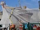 Le patrouilleur Castor se fait une beauté derrière son paravent, aux chantiers de la SOCARENAM.