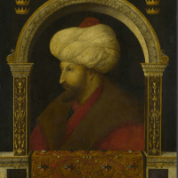 """Portrait de Mehmet II"" attribué à Gentile Bellini"