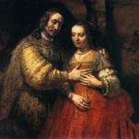 """Isaac et Rebecca"" (dit aussi ""La fiancée juive"") de Rembrandt"