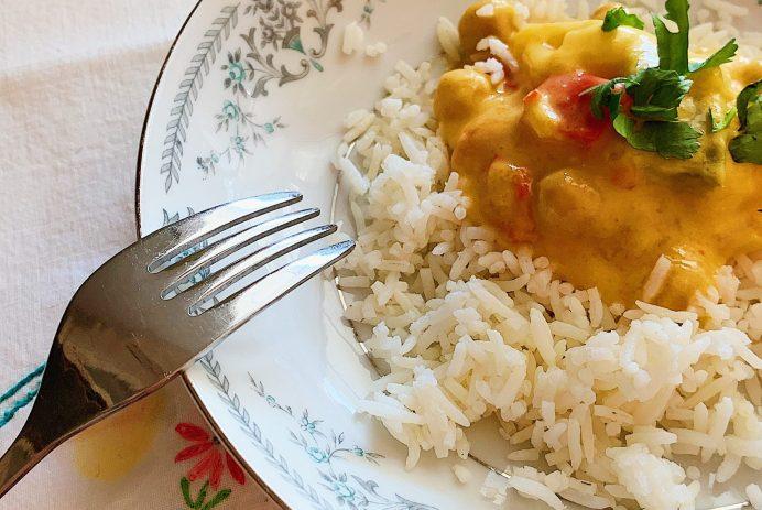 Curry thaïlandais de pois chiches à la mangue