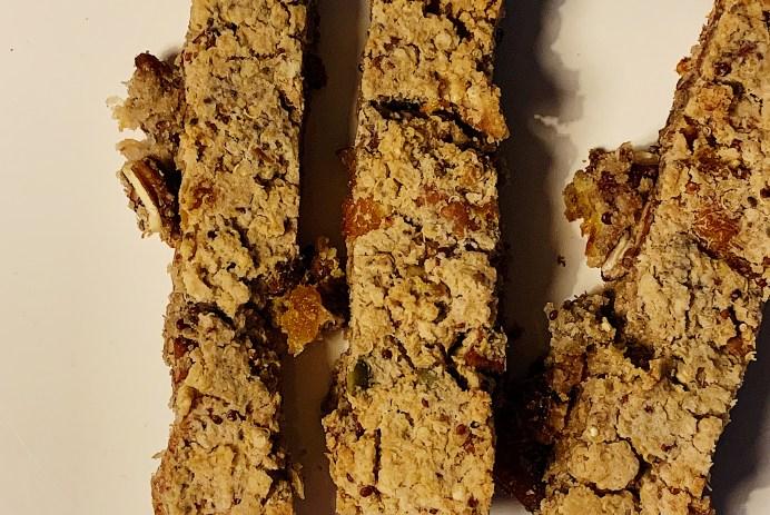 Barres croustillantes au quinoa et noix