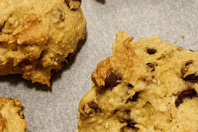Biscuits aux pépites de chocolat sans gluten et sans produits laitiers