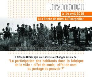 Forum Urbiscopie, la participation des habitants