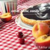 Recette cheesecake cerise pêche vanille
