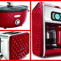 Bella Kitchen Remodeling Companies Expands Its Fashionable Line Of Specialty Appliances Diamonds Collection Red