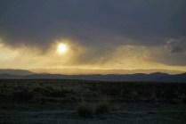 Le soleil se couche sur la pampa