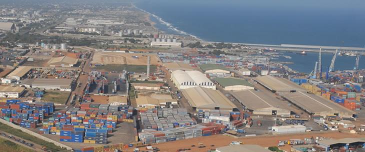 Vue du Port Autonome de Lomé