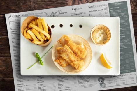 Un délicieux Fish'n'Chips à Rouen