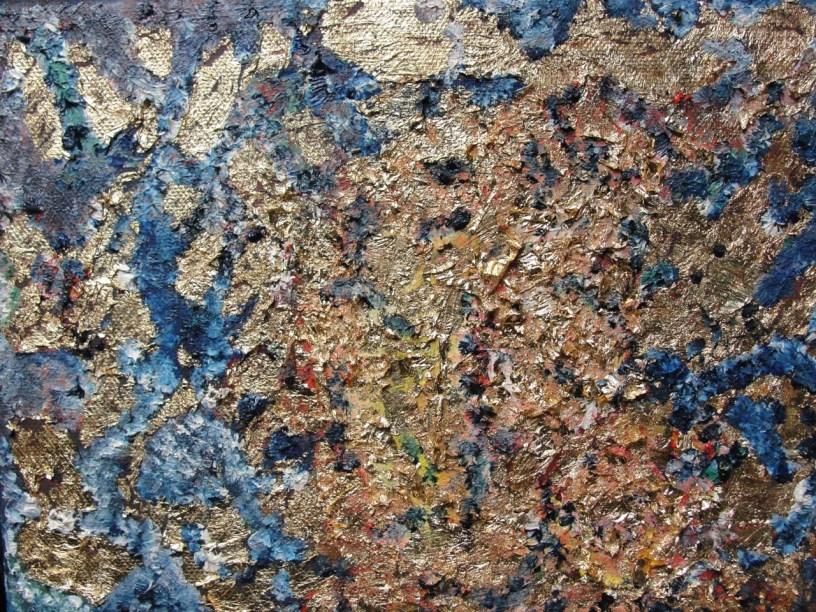 Oil and Metallic on Canvas by Stephanie Gonzalez