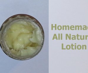 All-Natural Homemade Lotion