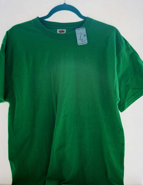 Bleach Spray Shirt Shamrock DIY Sewing Tutorial for St. Patrick's Day - Refashion / upcycle those t-shirts with bleach and water! Step-by-step DIY sewing tutorial for upcycling clothes into some other type of clothing or accessory. Remake, redo, reuse, and recycle to help save money and save the planet. Explore the web site for more refashioning tutorials, dozens of cute refashionista and fashion ideas with good, clear photos and instructions. http://letgoofbeingperfect.com