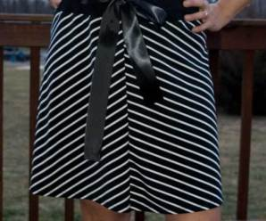 Satin Bow Skirt Refashion