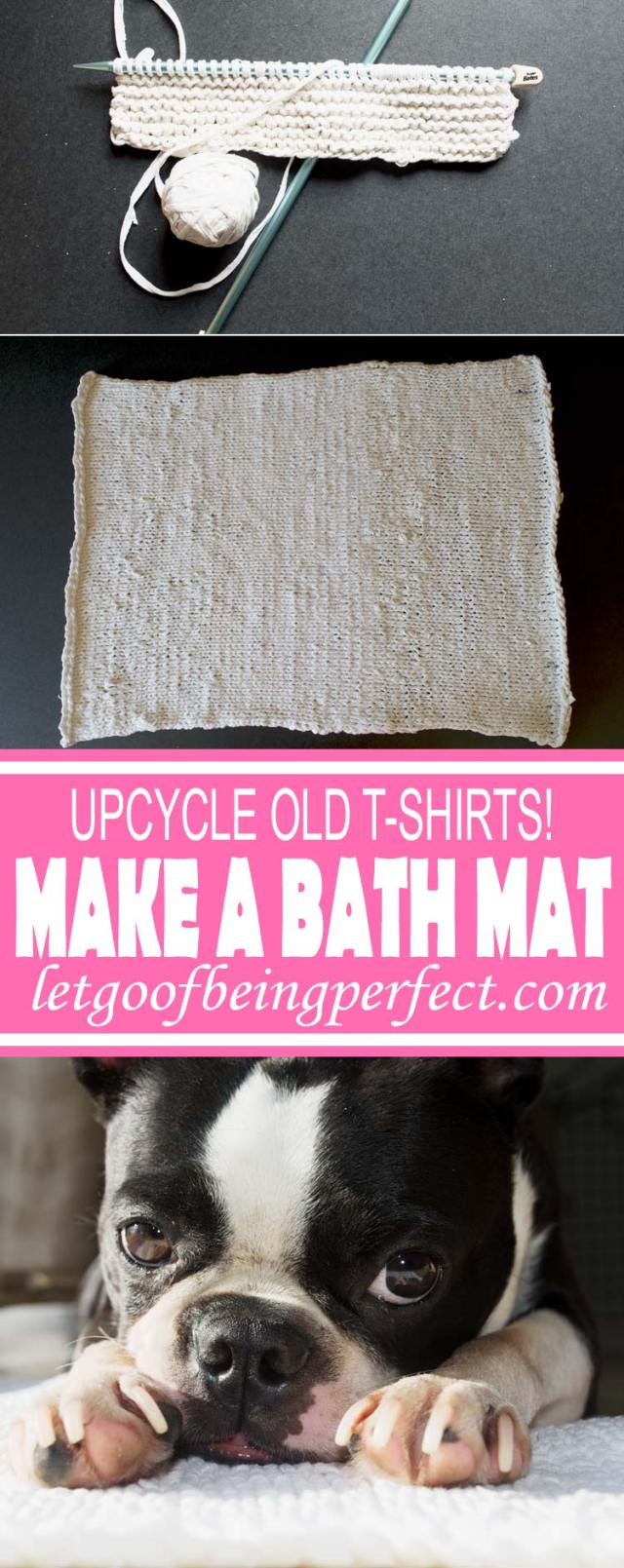 Upcycle a Bath Rug from Old T-Shirts - Repurpose your old t-shirts into a bath mat! Pick up several t-shirts from the Salvation Army or Goodwill for less than 50 cents each, and make up bunchs of these for less than $10. Make different bathroom rugs by dyeing them different colors. A great, low-cost way to change up the bathroom accessories. Remake, redo, reuse, and recycle to help save money and save the planet. Explore the web site for more refashioning tutorials, dozens of cute refashionista and fashion ideas. http://letgoofbeingperfect.com