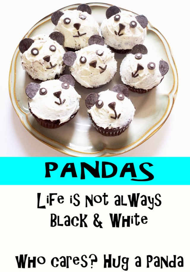 Make these adorable panda cupcakes. Really easy dessert recipe using common stuff you can buy at the grocery store. No baking skills required! Great for kid parties, panda-themed events, or school functions. Child-friendly recipe, too, great to get children cooking and baking, all while make cute food that makes them excited to bake. Explore the web site for more cooking and recipe tutorials with good, clear photos and instructions. It's pandamonium over here at http://letgoofbeingperfect.com