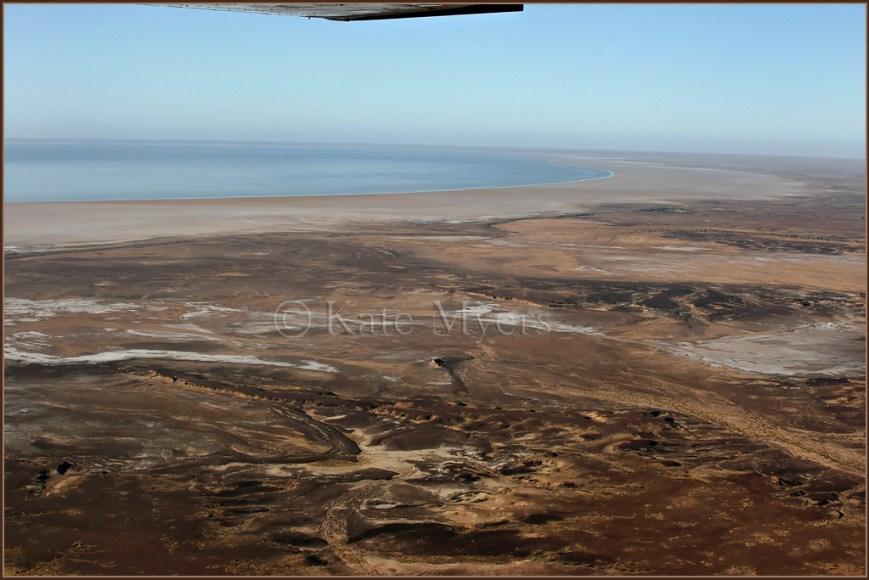 Flight over Lake Eyre