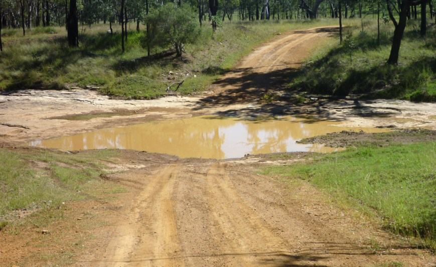 Road-puddle