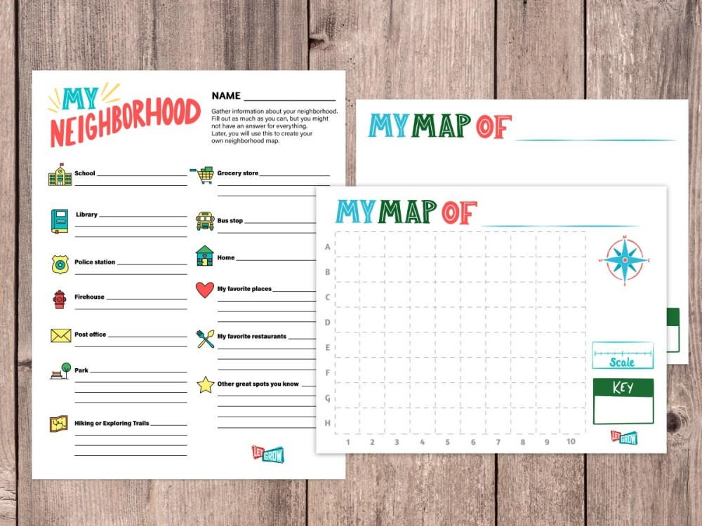 medium resolution of Make Your Own Neighborhood Map with Our FREE Printables – Let Grow