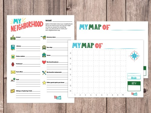 small resolution of Make Your Own Neighborhood Map with Our FREE Printables – Let Grow