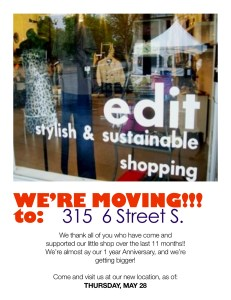 Edit Shoppe has moved