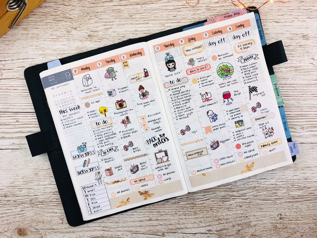 hobonichi cousin sticker kit
