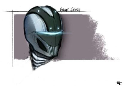"""Helmet Sketch"" by Setor Fiadzibey"