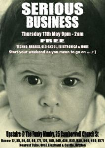 That's me on that flyer, 4 months old, and serious!