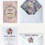 Invitaciones de boda: Invitación rosas acuarela