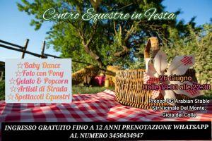 """Evento """"Centro Equestre in festa"""" – Gioia del Colle – 26/06/2021"""