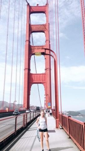 Na mostě Golden Gate