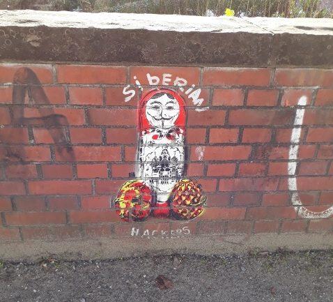 Berlin street art, siberian hackers, germany