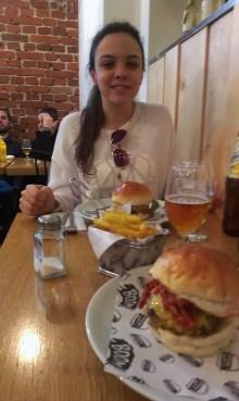 A Brazilian beauty with burgers