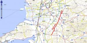御船活断層 地図 熊本地震