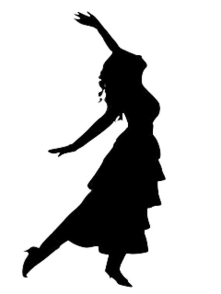 Silhouette dancing lady