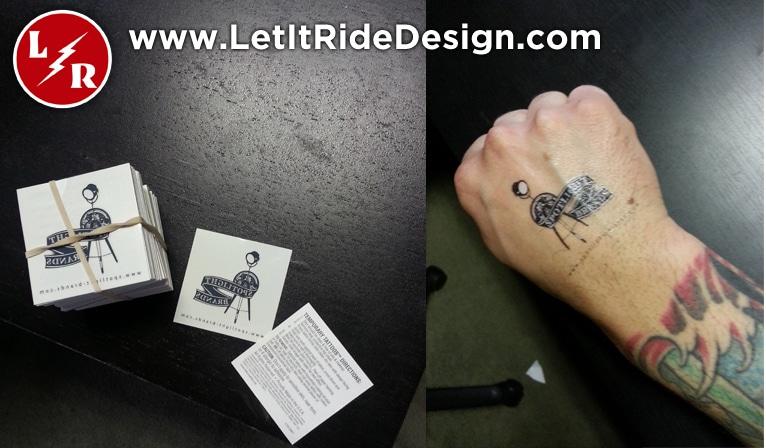 Custom temporary tattoos let it ride design for Custom temporary tattoos no minimum