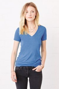8435 BELLA+CANVAS® Ladies Triblend Deep V-Neck Tee in
