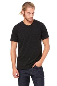 3650 BELLA+CANVAS® Unisex Poly-Cotton Tee in Black Speckled