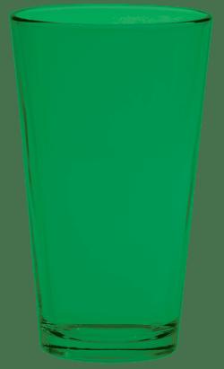 Green Pint Glass