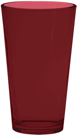 Maroon Pint Glass
