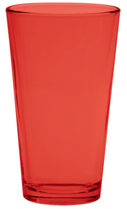 Red Pint Glass