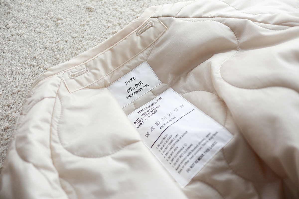HYKE QUILTED LINER COAT