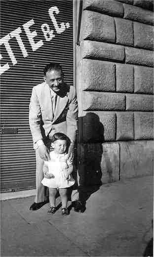 Giorgio Israel con il padre, 1945-46