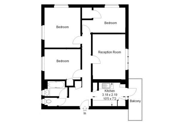 3 Bedroom Flat Let in LONDON, SE5