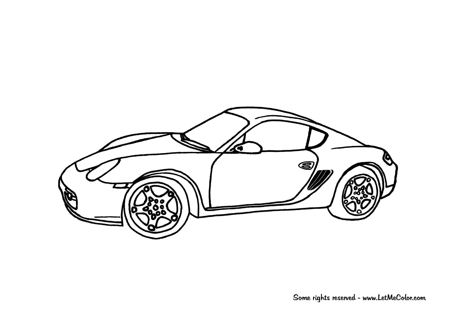 Coloring Page Of A Porsche Cayman Letmecolor